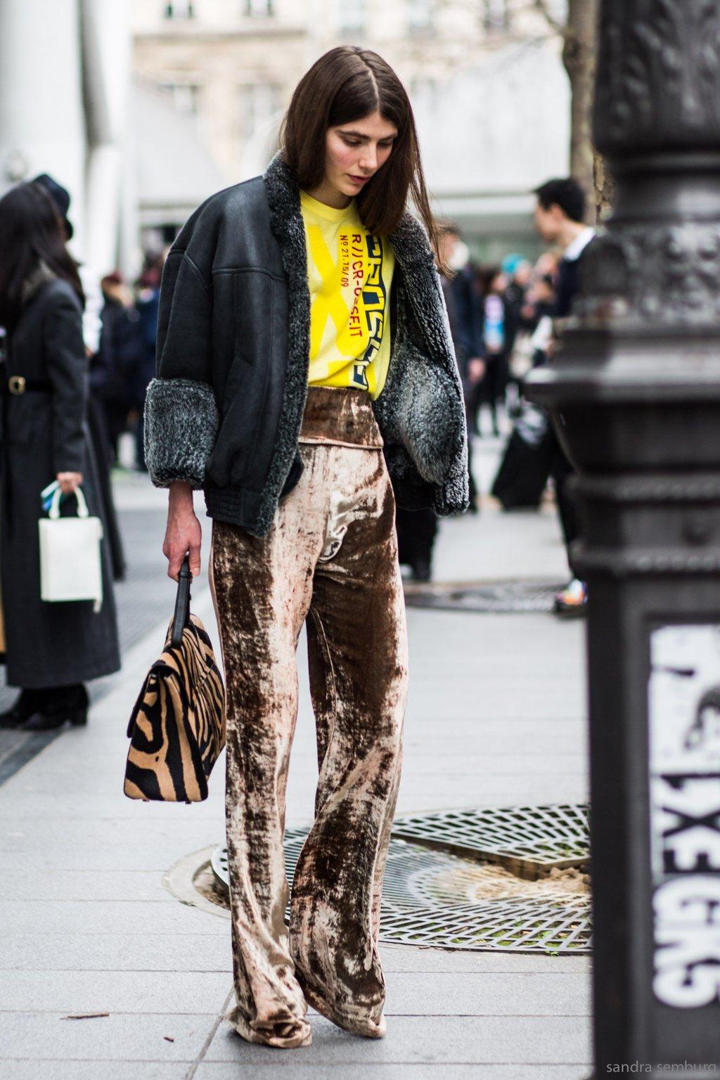 street style, velvet pants, aloveisblind