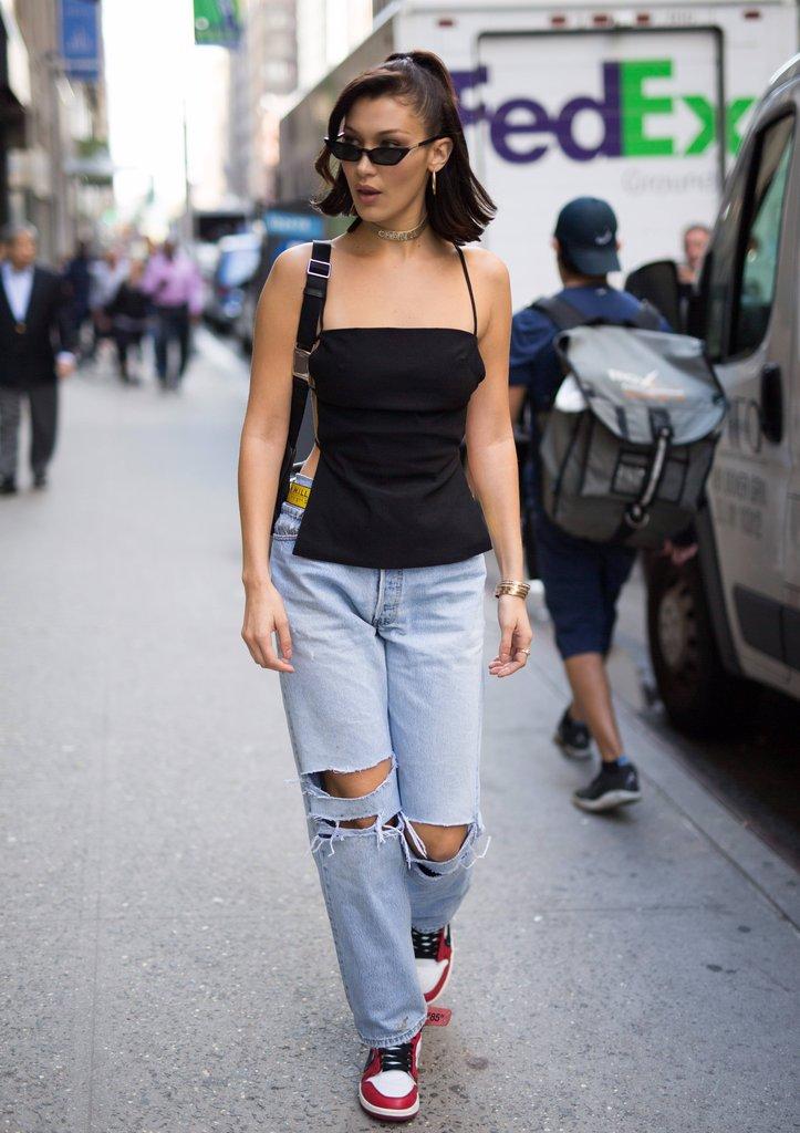 Bella Hadid sneaker style